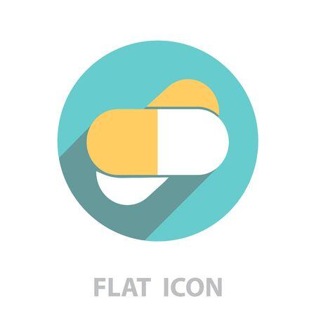 tablets (pills) icon. vector illustration