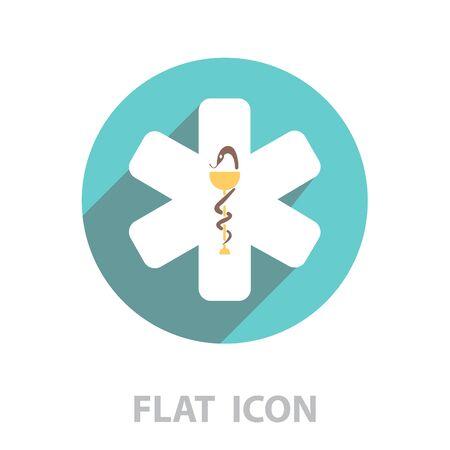 medical (ambulance) icon. vector illustration