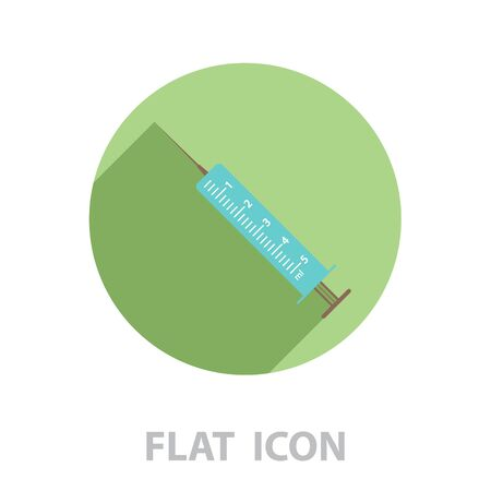 syringe icon. vector illustration