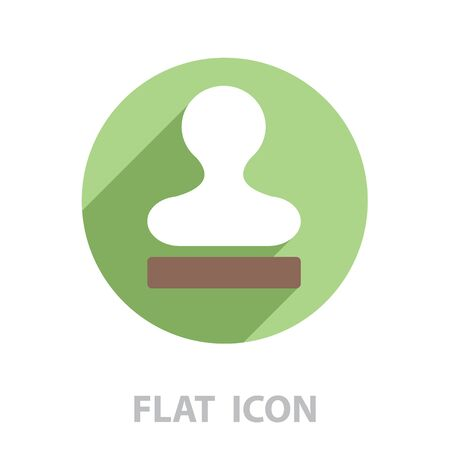 Stamp icon vector. vector illustration