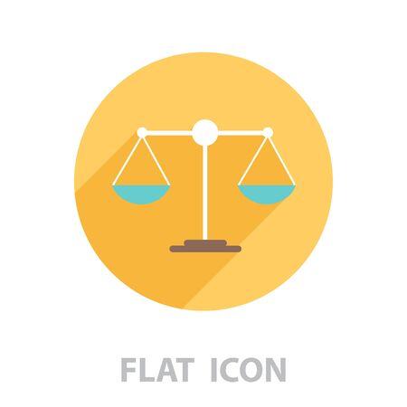 Scales balance icon. vector illustration