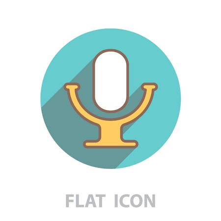 microphone line icon. vector illustration