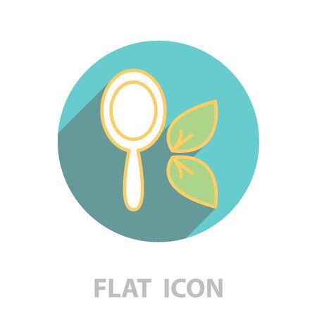 Hand Mirror Icon. vector illustration