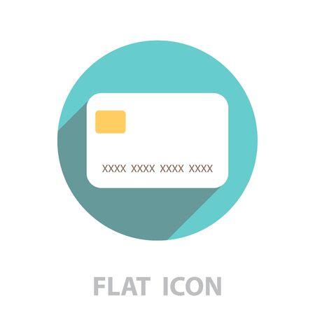credit card icon. vector illustration