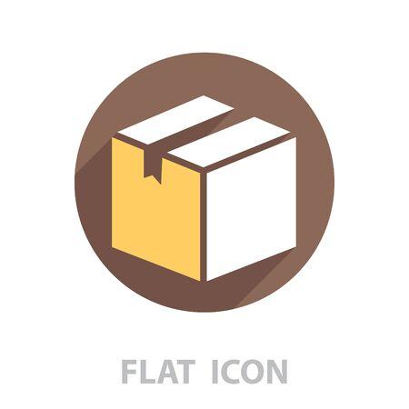 Box vector icon. vector illustration