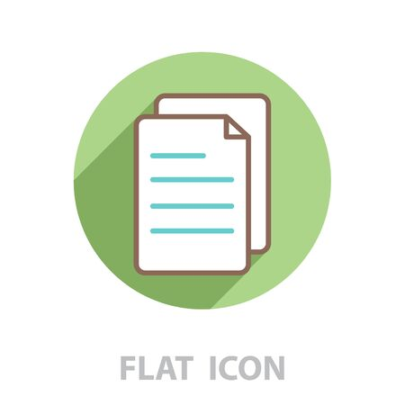 line note paper icons. vector illustration