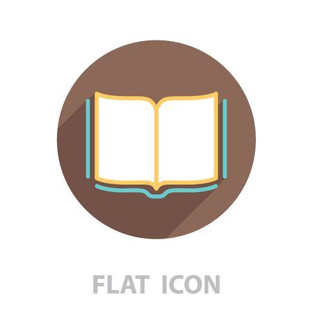 Open book  line icon. vector illustration