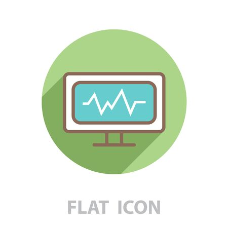 cardiogram icon. vector illustration Stock Vector - 128692729