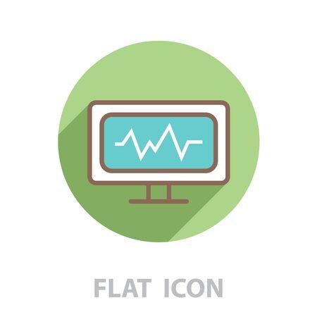 cardiogram icon. vector illustration Illustration