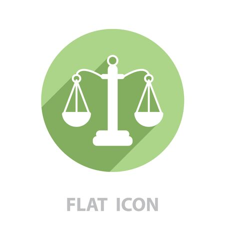 Pictograph of justice scales. vector illustration Illustration
