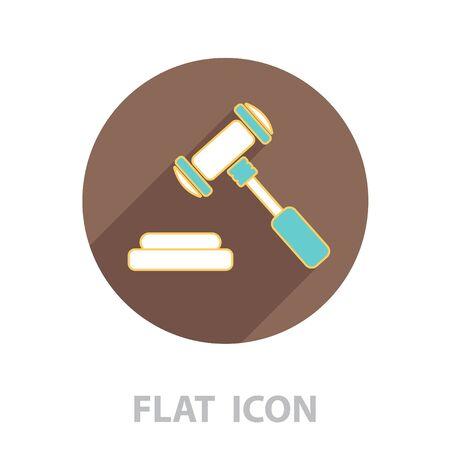 gavel line icon. vector illustration Ilustração