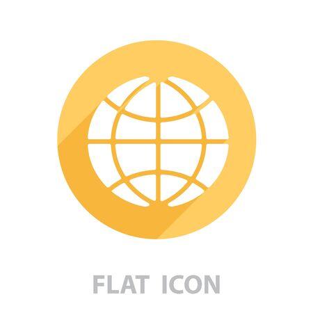 The globe icon. vector illustration