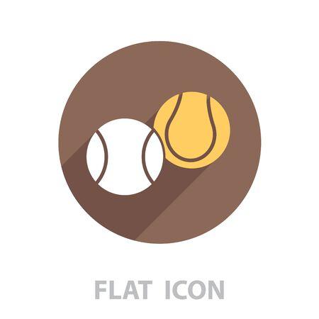Tennis Ball Icon. vector illustration Ilustração