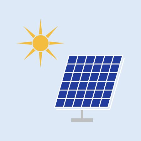 solar panel vector color icon