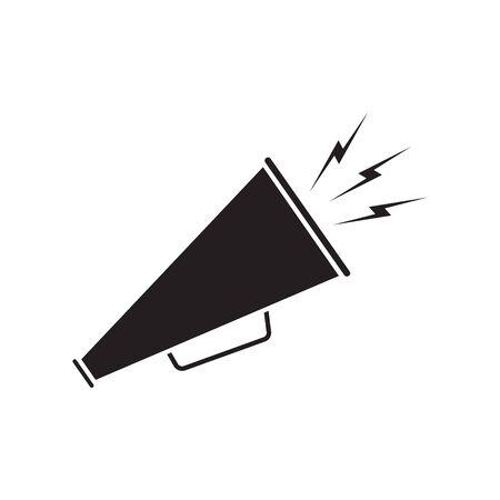 Megaphone icon vector, symbol, sign. Black icon megaphone on white background