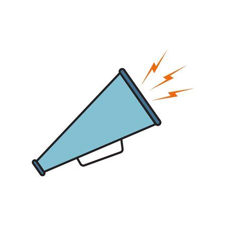 Megaphone icon vector, symbol, sign. Color icon megaphone on white background Stock Illustratie