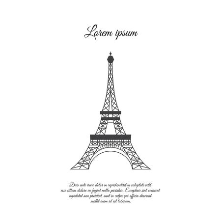 Eiffel Tower in Paris vector icon, sign, symbol Illustration