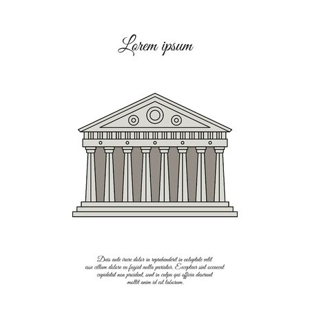 Parthenon in Athens color vector icon, sign, symbol 일러스트