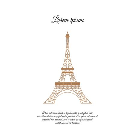 Eiffel Tower in Paris color vector icon, sign, symbol 일러스트