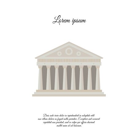 Parthenon in Athen Farbvektorsymbol, Zeichen, Symbol Vektorgrafik