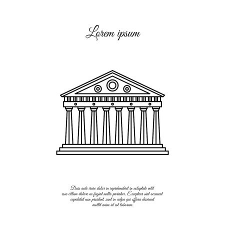 Parthenon in Athens vector line icon, sign, symbol 일러스트