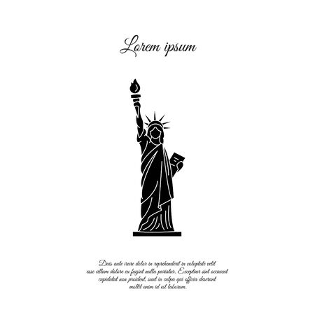 Statue of Liberty in New York vector icon, sign, symbol