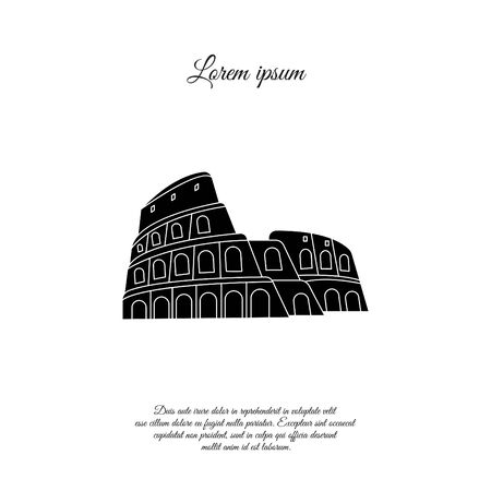 Colosseum in Rome vector icon, sign, symbol Illustration