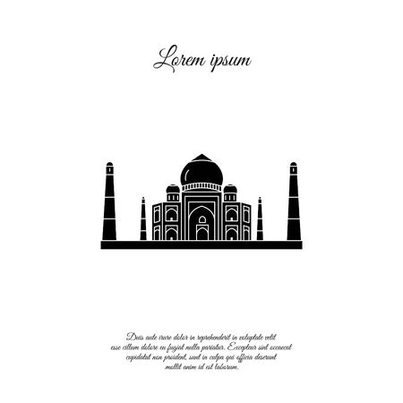 Taj Mahal vector icon, sign, symbol 矢量图像