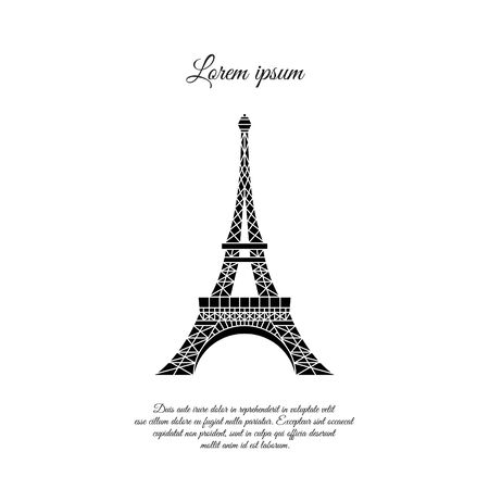 Eiffel Tower in Paris vector icon, sign, symbol 일러스트