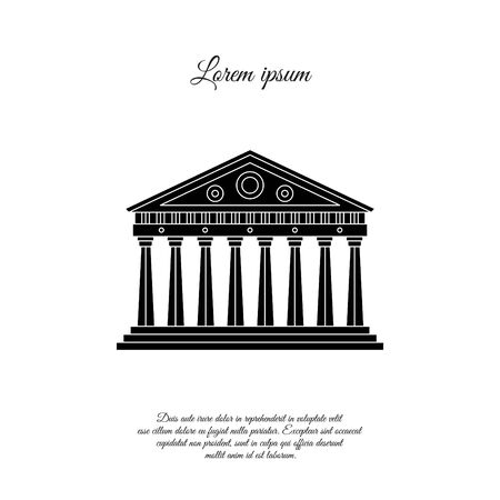 Parthenon in Athens vector icon, sign, symbol