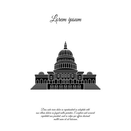 Capitol vector icon, sign, symbol Illustration