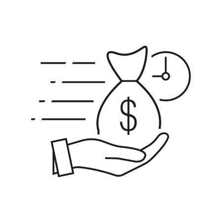 Quick and easy loan fast money providence icon vector illustration. easy instant credit, loan payment, fast money icon, finance thin line symbol for web and mobile phone on white background
