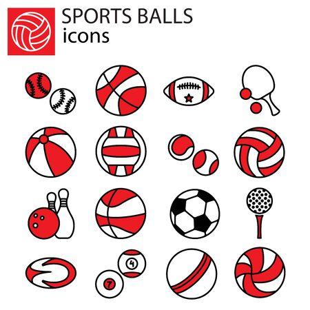 Web line set. Sports Balls