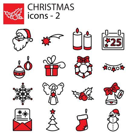 Web icons set. Christmas and New Year Ilustracja