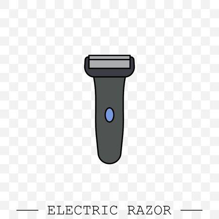 Electric razor vector icon. electric shaving machine symbol. Rotary shaver, mesh razor color  イラスト・ベクター素材