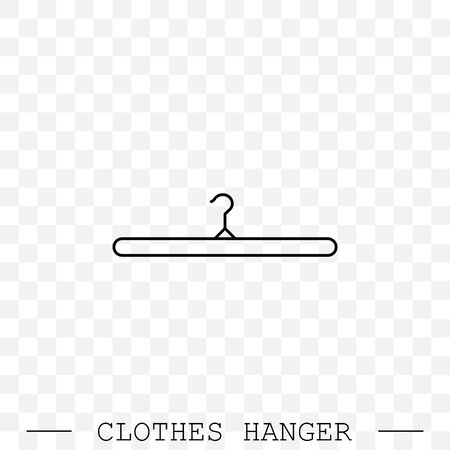 clothes hanger linear, line icon vector. icon of hanger for clothes.  Illustration