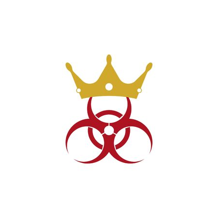 Crown and virus sign. Vettoriali