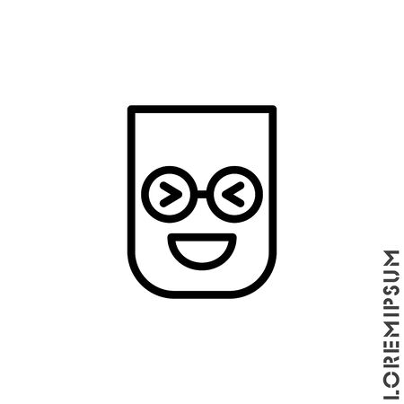 Emoticon vector icon on white background. vector emoticon icon symbol sign from modern user interface collection for mobile concept and web apps design. Laugh, emoji icon vector, emotion, fun symbol.