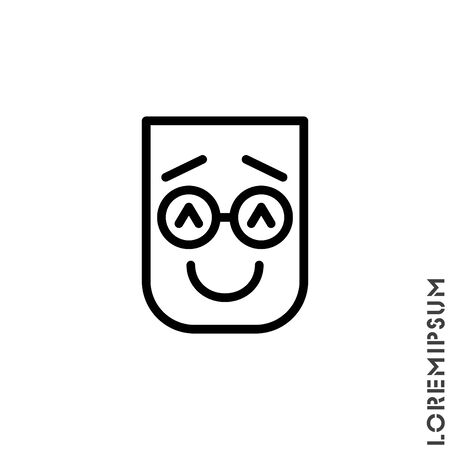 Laughing, emoticon icon. Nice smile. Funny, face vector. Humor, smile, smiley, positive symbol for web and mobile apps.