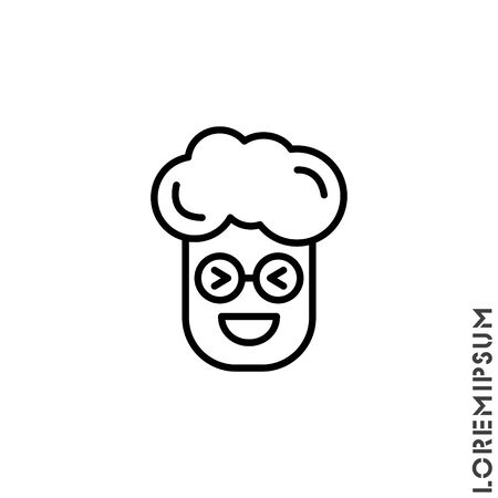 Emoticon vector boy, man icon on white background. vector emoticon icon symbol sign from modern user interface collection for mobile concept and web apps design. Laugh, emoji icon vector, emotion, fun