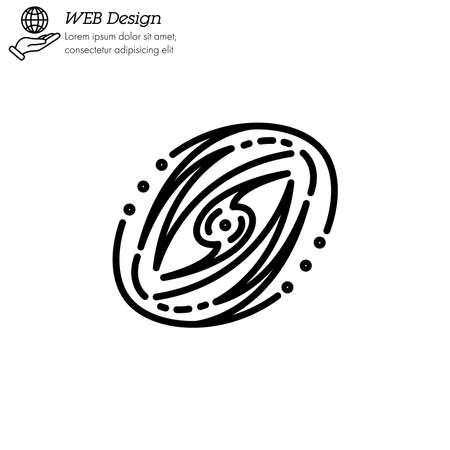 Galaxy icon thin line, linear, outline vector.