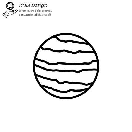 Venus planet icon thin line, linear, outline vector. Venus planet simple sign