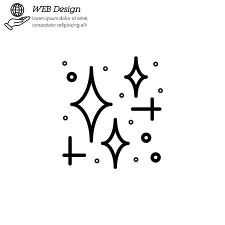 star cluster icon thin line, linear, outline vector. star cluster simple sign Illustration