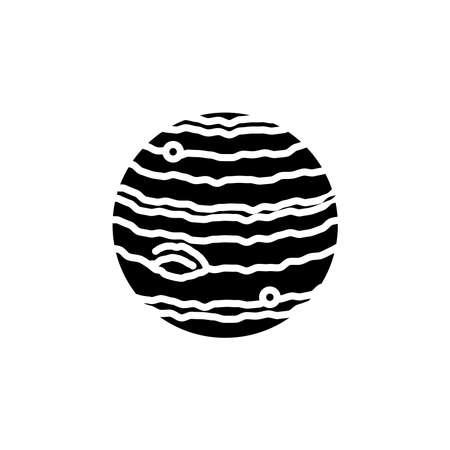 Jupiter planet icon vector. Jupiter planet simple sign, logo
