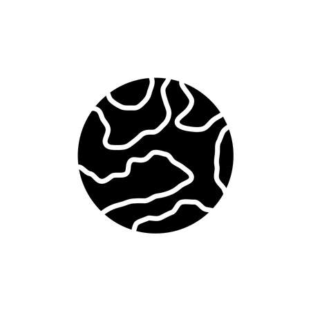 Mercury planet icon vector. Mercury planet simple sign, logo.