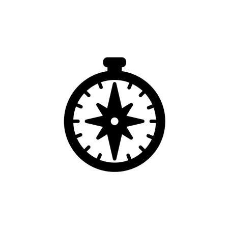 compass icon. Simple sign, logo black on white Illustration