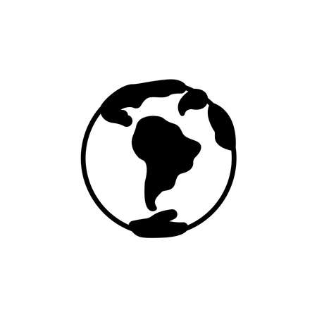 planet Earth icon vector. planet Earth simple sign, logo. World icon isolated.