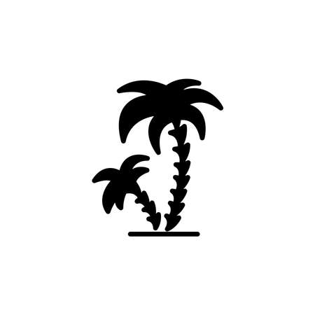 Palms tree icon. palm coconut tree Simple sign, logo.