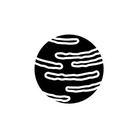 Neptune planet icon vector. Neptune planet simple sign, logo. Illustration