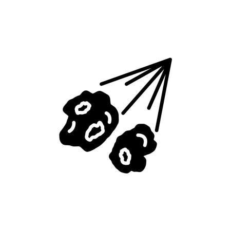 meteorite, comet, meteor icon vector. comet, meteorite, meteor simple sign, logo.